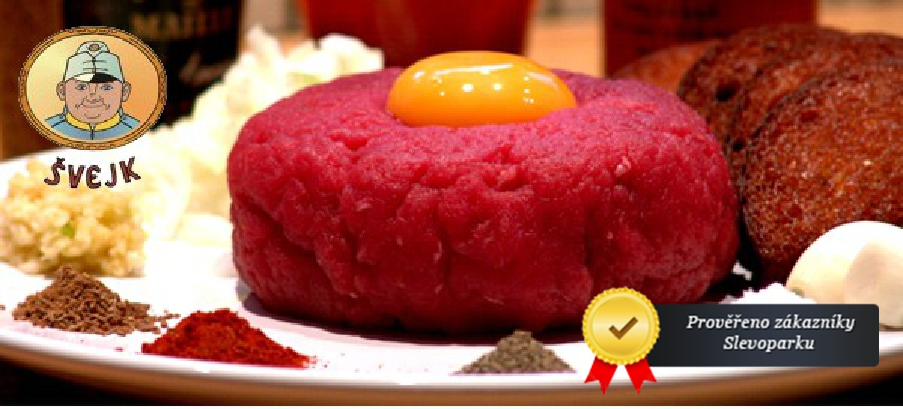 Až 500g tatarského bifteku ve Švejkově restaurantu