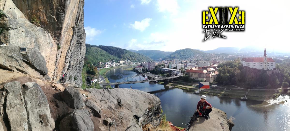 Via Ferrata: lezení v Děčíně po zajištěných cestách na Pastýřské stěně