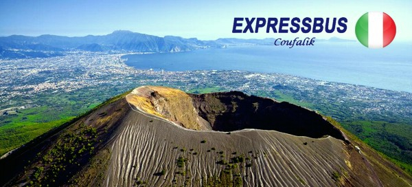 Řím, Vatikán, Vesuv, Pompeje a koupání na Capri