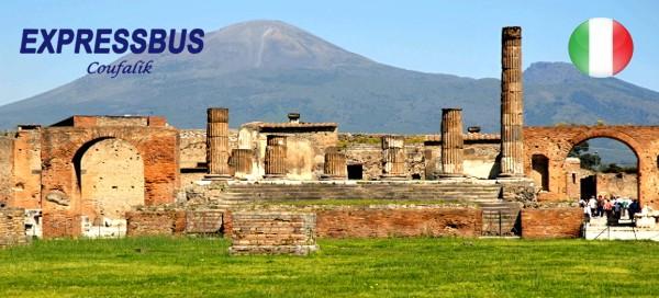 Řím, Vatikán, Vesuv, Pompeje a koupání na Ischia