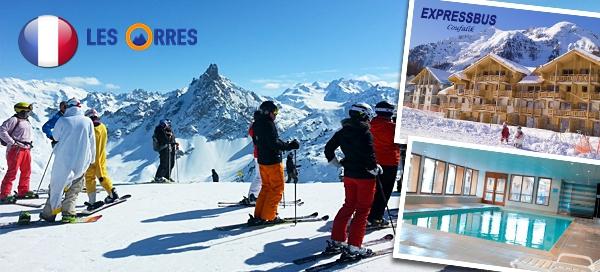 10-denní lyžařský zájezd do Francie pro 1 osobu