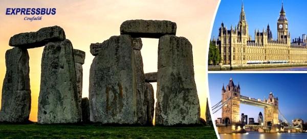 Londýn, univerzitní město Oxford a Stonehenge
