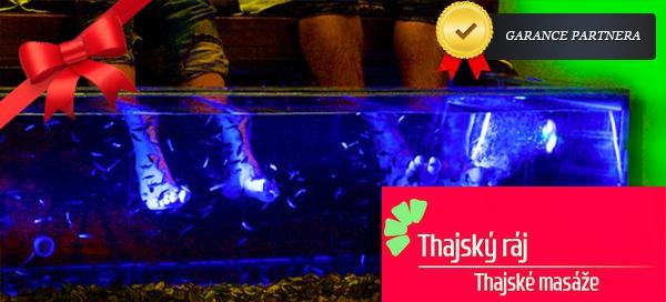 Příjemná lázeň s rybkami Garra Rufa – Thajský ráj
