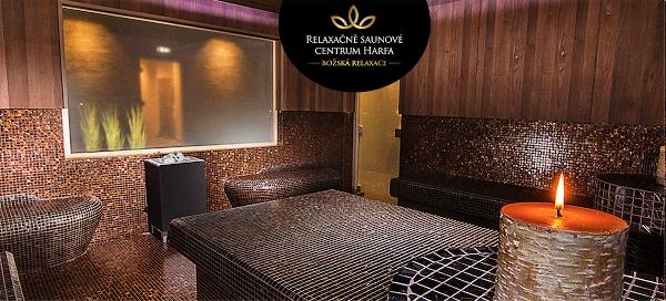 Celodenní saunování v Relaxačním centru na Harfě