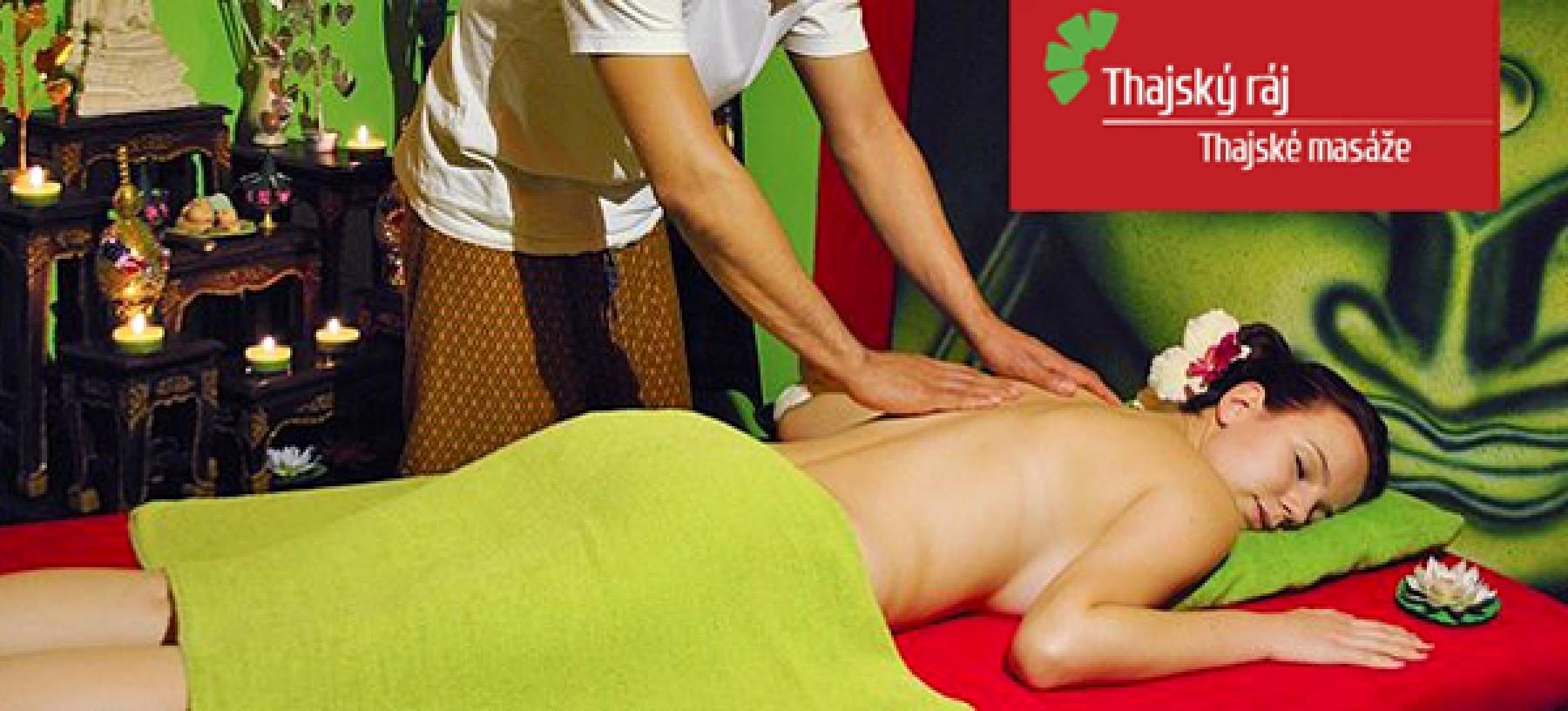 60minutové masáže v Thajském ráji + Garra Rufa