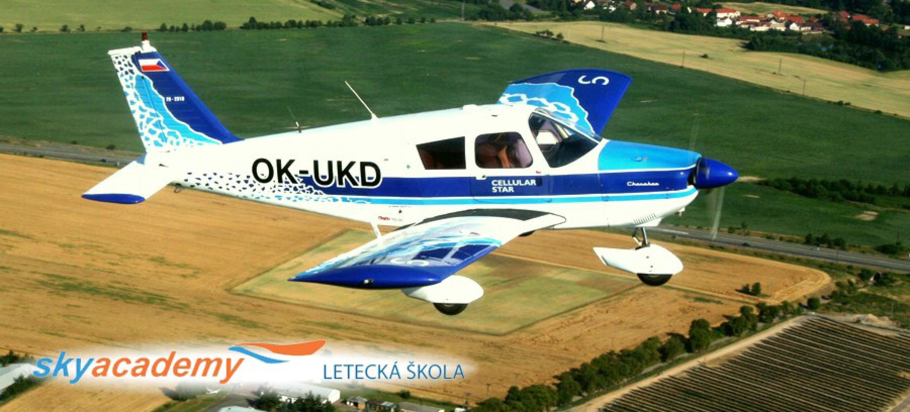 Pilotem na zkoušku nebo vyhlídkový let pro 2 osoby