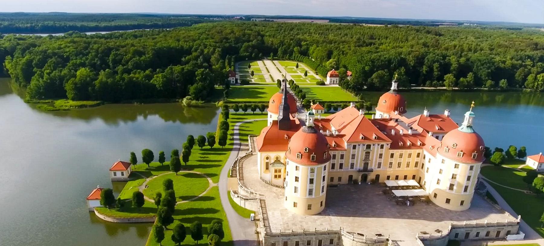Celodenní výlet na zámek Moritzburg a do Drážďan