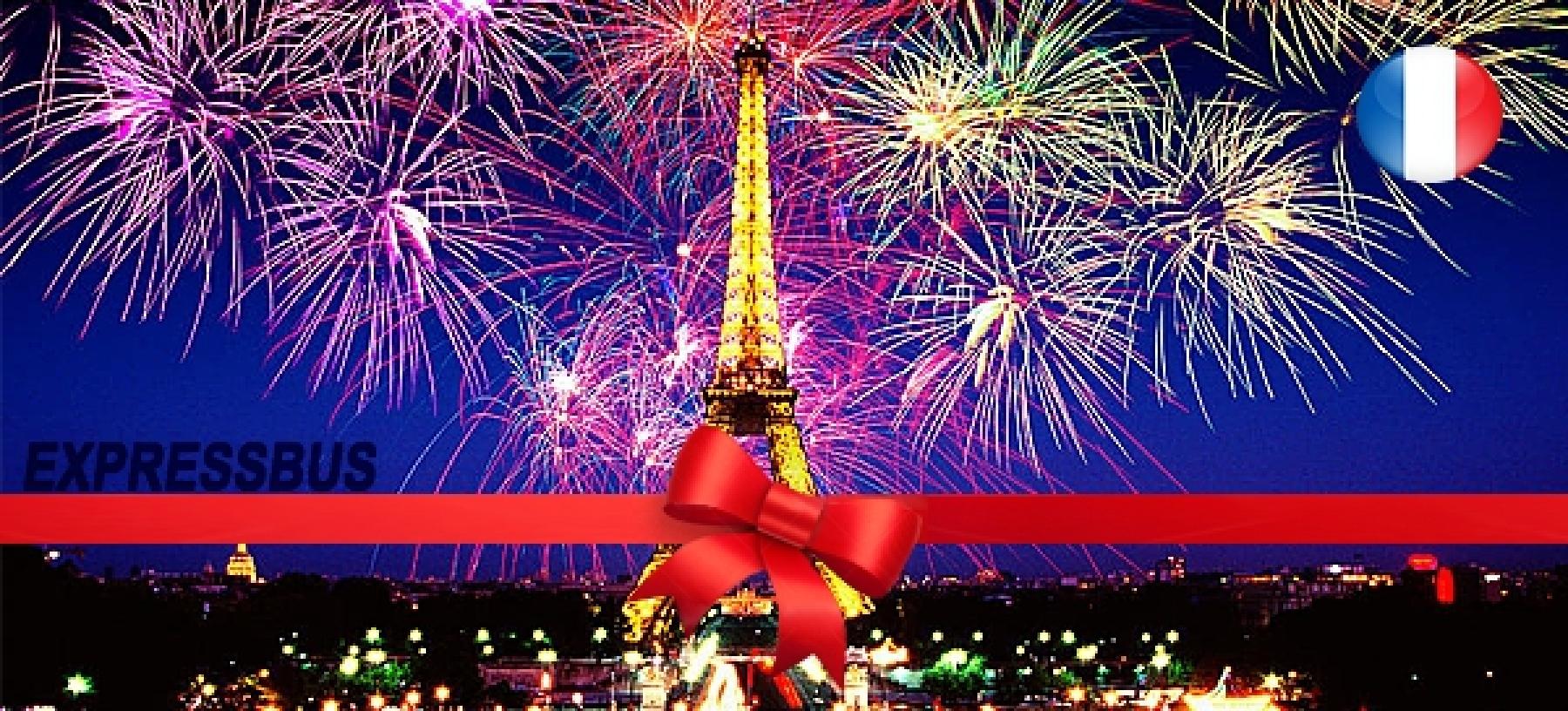 Silvestr v Paříži s ubytováním pro 1 osobu
