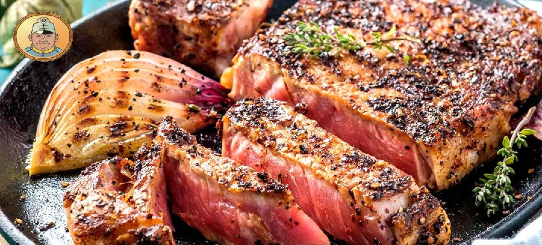 Výběr ze 3 steaků pro 1 osobu, příloha, dezert
