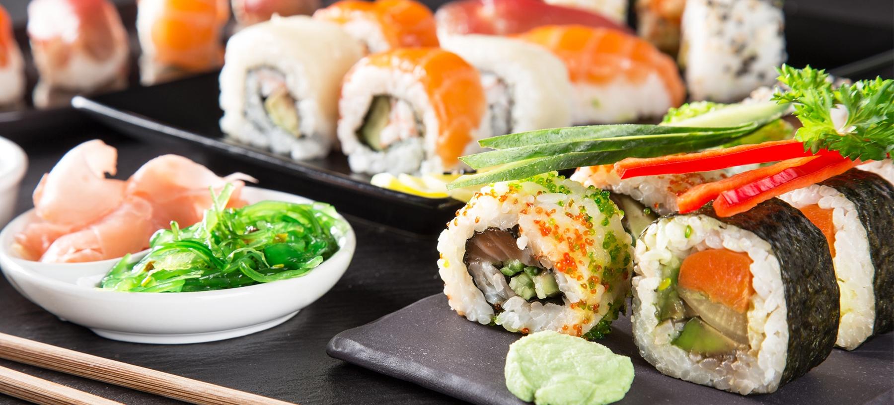 Lahodné asijské sushi v Green Tea Restaurant