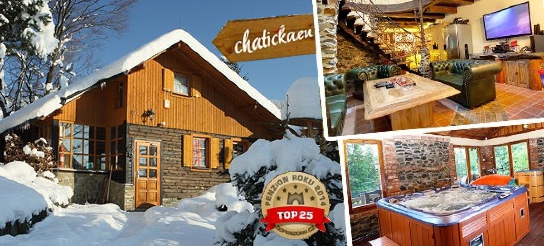 5 dní v luxusní chatě v Beskydech až pro 10 osob